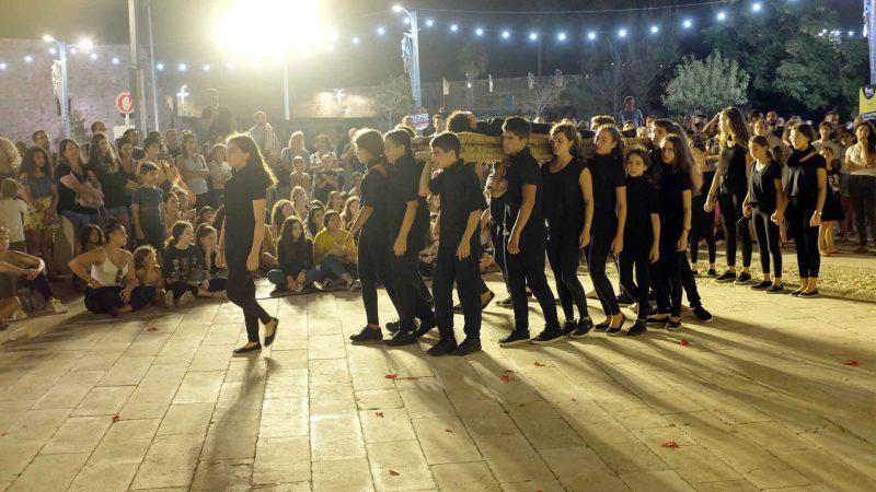 הצגה במסגרת חוג תיאטרון לילדים - לנוער של בימת הנוער כפר סבא בפסטיבל עכו 2019